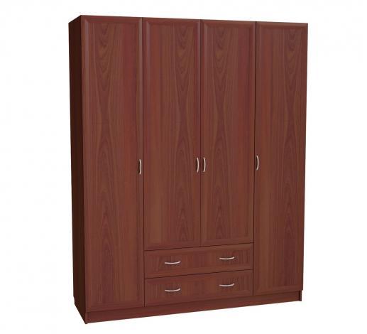 Шкаф для платья и белья 4-х дверный с 2 ящиками С 299 М - фото №1