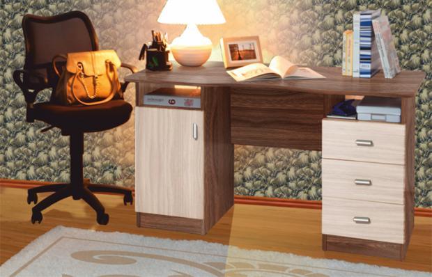Стол письменный 2-х тумбовый - фото №4