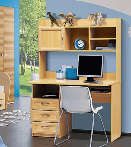 Стол компьютерный с надстройкой - 1 (рамка МДФ) - фото №5