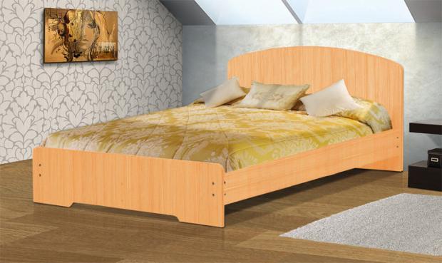 Кровать полутораспальная с низкой ножной спинкой 1400 Людмила-2 - фото №1