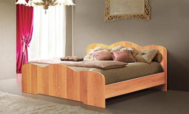 Двуспальная кровать от спального гарнитура Людмила-1 - фото №3