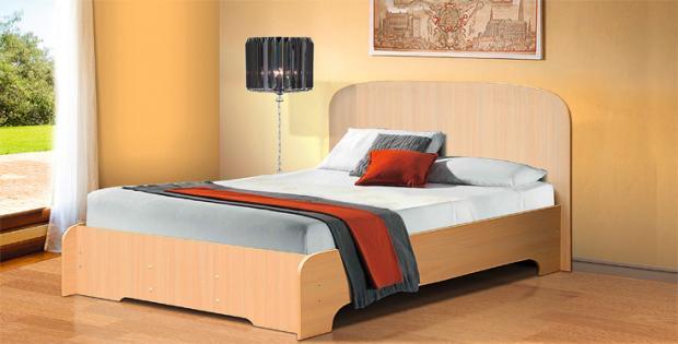 Кровать полутораспальная 1400 Людмила-3 - фото №2