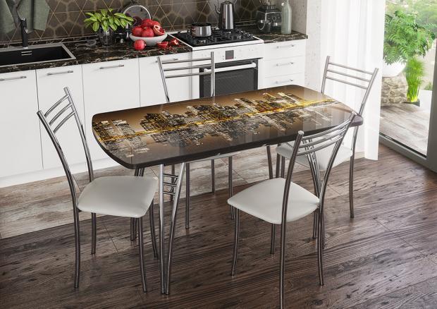 Обеденная группа (раздвижной стол и стулья) - фото №3