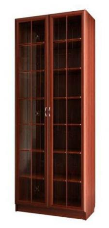Шкаф для книг со стеклянными дверями С 406/1 M - фото №1