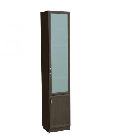 Шкаф для книг узкий со стеклянной дверью С 410 М - фото №4