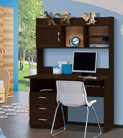 Стол компьютерный с надстройкой - 1 (рамка МДФ) - фото №3