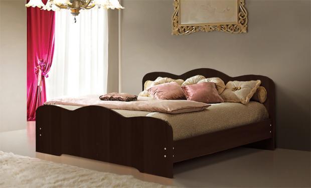 Двуспальная кровать от спального гарнитура Людмила-1 - фото №2