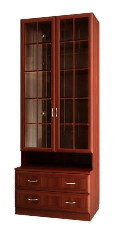 Шкаф для книг со стеклянными дверями С 461 М - фото №1