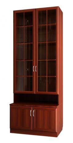 Шкаф для книг со стеклянными дверями С 462 М - фото №1