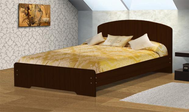 Кровать полутораспальная с низкой ножной спинкой 1400 Людмила-2 - фото №4