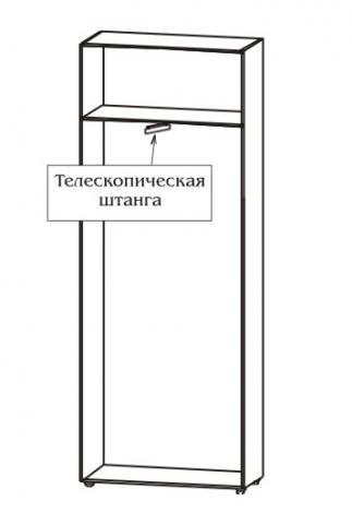 Шкаф офисный для одежды узкий с выдвижной штангой 5.10Ф - фото №4