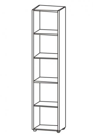 Шкаф однодверный распашной для офиса 5.02Ф - фото №4