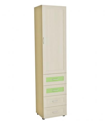 Шкаф-пенал для детской с 4 ящиками Р5.03 - фото №1
