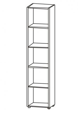 Шкаф для офиса однодверный с нишами 5.05Ф - фото №4