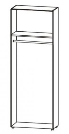 Шкаф для одежды со штангой 5.12 - фото №2