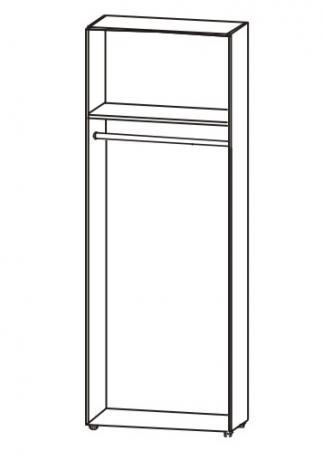 Шкаф распашной офисный для одежды с выдвижной штангой 5.12Ф - фото №4