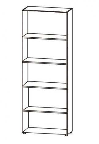 Шкаф офисный для книг со стеклом 5.16Ф - фото №4