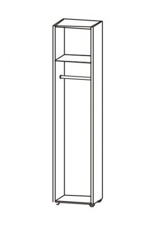 Шкаф офисный для одежды однодверный 5.17Ф - фото №4