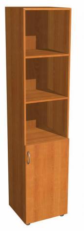 Шкаф для офиса однодверный с нишами 5.05Ф - фото №1