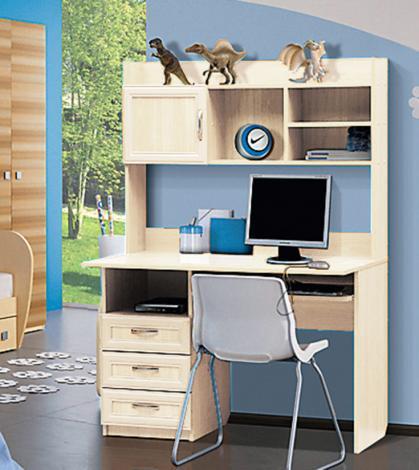 Стол компьютерный с надстройкой - 1 (рамка МДФ) - фото №1