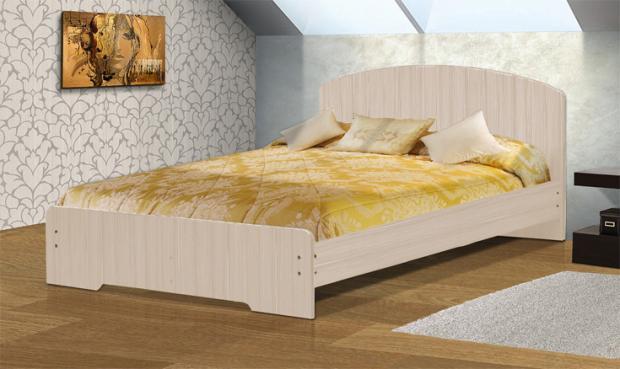 Кровать полутораспальная с низкой ножной спинкой 1400 Людмила-2 - фото №3