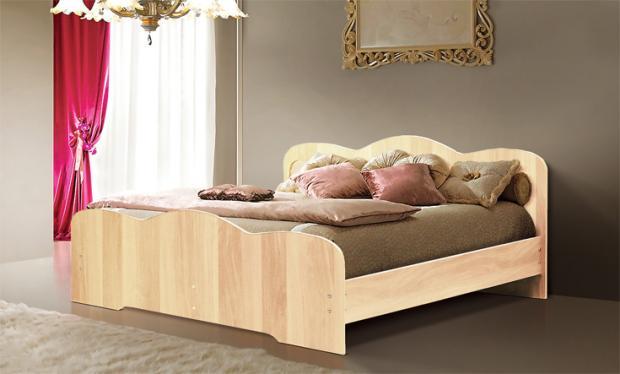 Двуспальная кровать от спального гарнитура Людмила-1 - фото №4