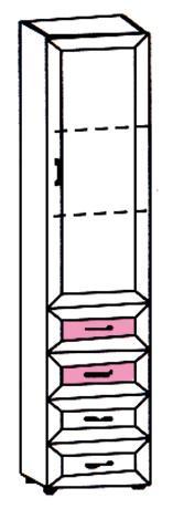 Шкаф-пенал для детской с 4 ящиками Р5.03 - фото №2
