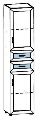 Шкаф детский с 2 дверцами и 2 ящиками Радуга Р5.04 - фото №2