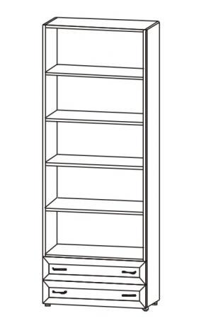 Шкаф 2-х дверный с ящиками Радуга 6.05 - фото №2
