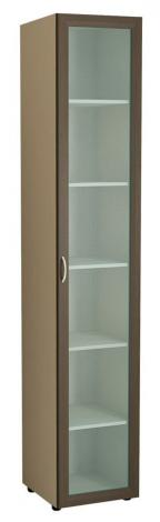 Книжный шкаф с матовым стеклом 6.02 - фото №1