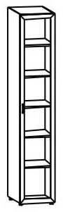 Книжный шкаф с матовым стеклом 6.02 - фото №2
