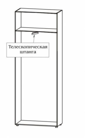 Шкаф 2-х дверный узкий со штангой 6.10 - фото №2