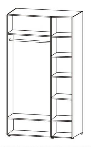 Шкаф 3-х дверный с зеркалом 6.14.26 - фото №2