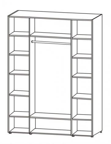 Шкаф 4-х дверный с зеркалами 6.17.26 - фото №2