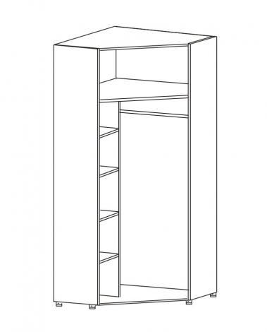Шкаф угловой 2-х дверный с зеркалами ШУ-63 - фото №2