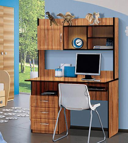Стол компьютерный с надстройкой - 1 (рамка МДФ) - фото №6