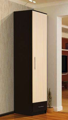 Шкаф - пенал с нижним ящиком - фото №1