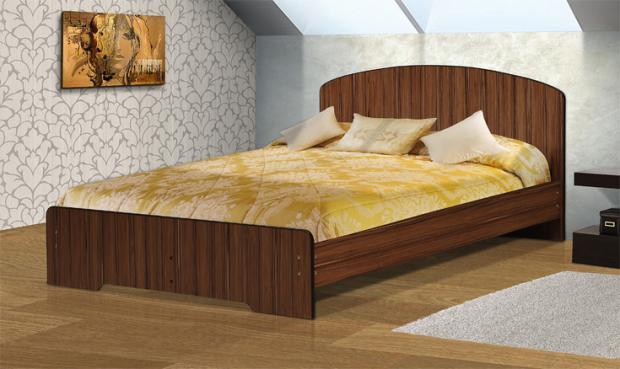 Кровать полутораспальная с низкой ножной спинкой 1400 Людмила-2 - фото №5
