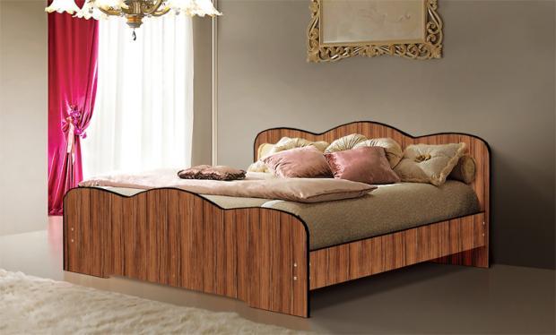 Двуспальная кровать от спального гарнитура Людмила-1 - фото №5