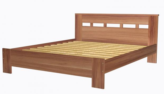 Кровать двуспальная 1600 с низкой ножной спинкой 8.15.26 - фото №1