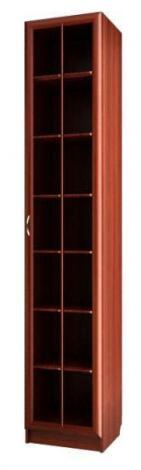 Шкаф для книг со стеклянной дверью С 410/1 М - фото №1