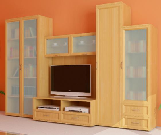 Мебельная секционная стенка в гостиную Береста 2 - фото №1