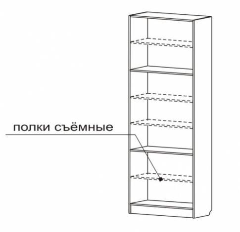 Шкаф для книг со стеклянными дверями С 406/1 M - фото №2