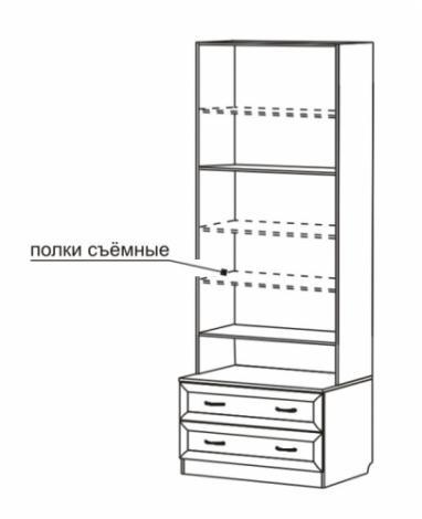 Шкаф для книг со стеклянными дверями С 461 М - фото №2