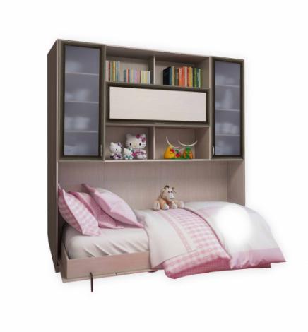 Подъемная двуспальная кровать С 521 М со стеклом - фото №1
