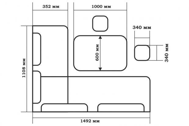Кухонный уголок Поло - фото №5