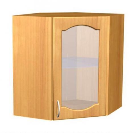 Шкаф навесной угловой для кухни П 12  - фото №1