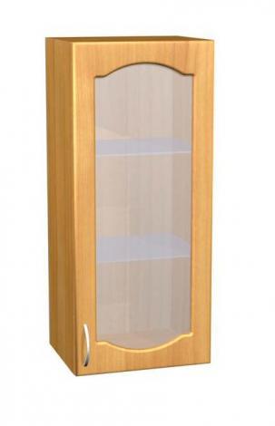 Шкаф навесной со стеклом для кухни П 29 - фото №1