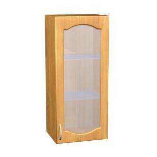 Шкаф навесной с матовым стеклом для кухни П 29/1 - фото №1