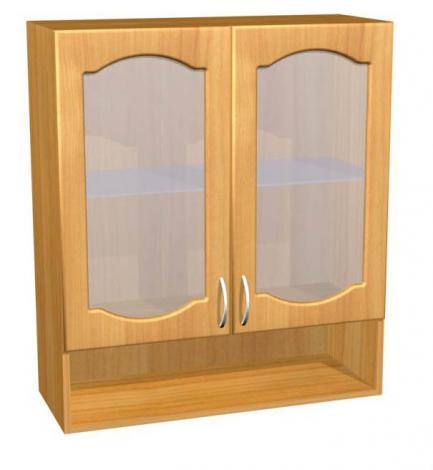 Шкаф навесной со стеклом для кухни П 42 - фото №1